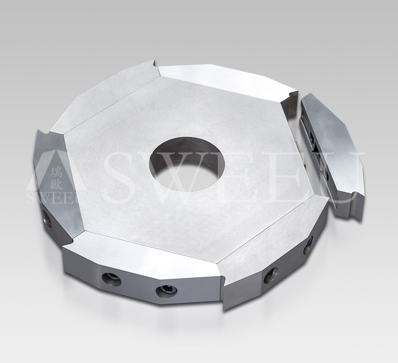 Replaceable Cutting Edges Twin Shafts Shredder Blades
